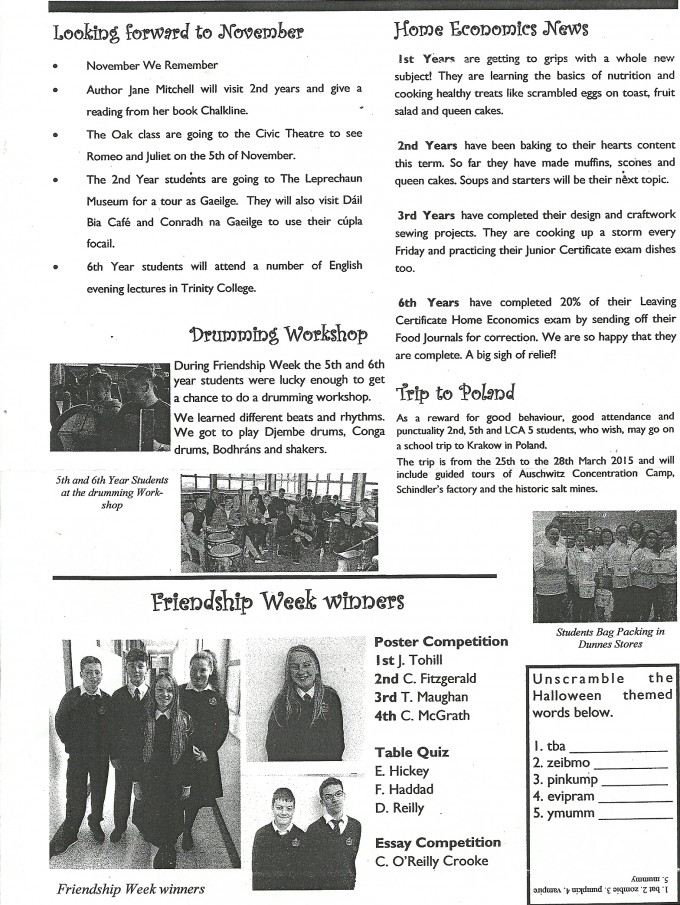 Rosary College Newsletter Issue 2 October 2014