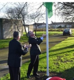 Green Schools Flag erected