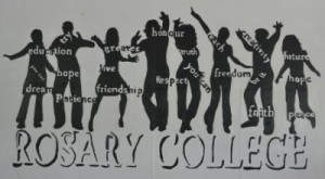 Rosary College Mural