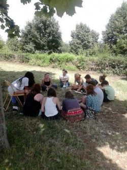 Group gathering at Taizé